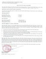 Báo cáo tài chính năm 2012 (đã kiểm toán) - CTCP Thực phẩm Hữu Nghị