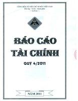 Báo cáo tài chính quý 4 năm 2011 - Công ty Cổ phần Đầu tư Xây dựng Hồng Phát