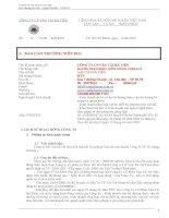 Báo cáo thường niên năm 2011 - Công ty Cổ phần Vận tải Hà Tiên