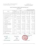 Báo cáo tài chính công ty mẹ quý 1 năm 2012 - Công ty Cổ phần Đầu tư và Dịch vụ Khánh Hội