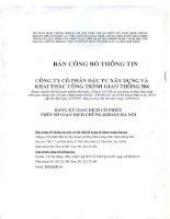 Bản cáo bạch - Công ty cổ phần Đầu tư Xây dựng và Khai thác Công trình Giao thông 584