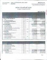 Báo cáo tài chính công ty mẹ quý 2 năm 2012 - Công ty Cổ phần Hữu Liên Á Châu