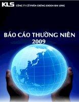 Báo cáo thường niên năm 2009 - Công ty Cổ phần Chứng khoán Kim Long