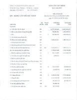 Báo cáo tài chính quý 1 năm 2016 - Công ty Cổ phần Sách và Thiết bị trường học Long An