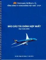 Báo cáo tài chính hợp nhất quý 3 năm 2015 - Tổng Công ty Hàng không Việt Nam-CTCP