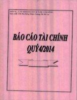 Báo cáo tài chính công ty mẹ quý 4 năm 2014 - Công ty Cổ phần Khoáng sản và Vật liệu xây dựng Lâm Đồng