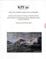 Báo cáo thường niên năm 2015 - Công ty Cổ phần Tư vấn Dự án Quốc tế KPF