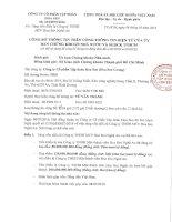 Nghị quyết Hội đồng Quản trị - Công ty Cổ phần Tập đoàn Hoa Sen