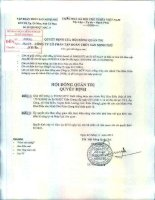 Nghị quyết Hội đồng Quản trị - Công ty Cổ phần Tập đoàn Thủy sản Minh Phú