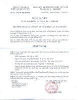 Nghị quyết Hội đồng Quản trị ngày 04-11-2011 - Công ty Cổ phần Điện lực Khánh Hòa
