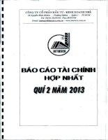 Báo cáo tài chính hợp nhất quý 2 năm 2013 - Công ty Cổ phần Đầu tư - Kinh doanh nhà