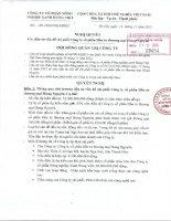 Nghị quyết Hội đồng Quản trị - Công ty cổ phần Nông nghiệp xanh Hưng Việt