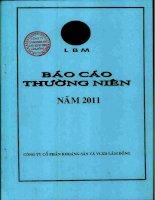 Báo cáo thường niên năm 2011 - Công ty Cổ phần Khoáng sản và Vật liệu xây dựng Lâm Đồng