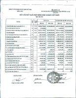 Báo cáo KQKD hợp nhất quý 1 năm 2012 - Công ty Cổ phần Cơ điện và Xây dựng Việt Nam