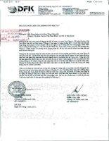 Báo cáo kết quả kinh doanh mẹ soát xét quý 2 năm 2011 - Công ty Cổ phần Cavico Việt Nam Khai thác Mỏ và Xây dựng