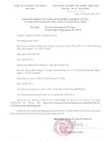 Báo cáo tài chính hợp nhất quý 4 năm 2013 - Công ty Cổ phần Tập đoàn MaSan