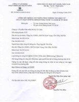 Nghị quyết Đại hội cổ đông thường niên - Công ty Cổ phần Phát triển Đô thị Từ Liêm