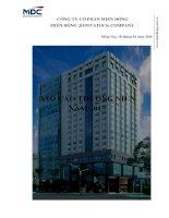 Báo cáo thường niên năm 2015 - Công ty Cổ phần miền Đông