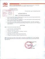 Nghị quyết Hội đồng Quản trị - Công ty Cổ phần Tập đoàn Kido