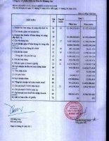 Báo cáo KQKD quý 1 năm 2011 - Công ty Cổ phần Đầu tư Địa ốc Khang An