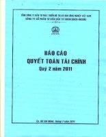 Báo cáo tài chính quý 2 năm 2011 - Công ty Cổ phần Tư vấn Đầu tư IDICO