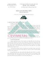 Báo cáo thường niên năm 2011 - Công ty cổ phần Kim khí miền Trung