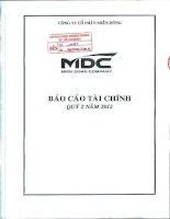 Báo cáo tài chính tổng hợp quý 2 năm 2012 - Công ty Cổ phần miền Đông