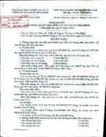 Nghị quyết Hội đồng Quản trị ngày 01-11-2011 - Công ty Cổ phần Cao su Hòa Bình