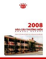 Báo cáo thường niên năm 2008 - Công ty Cổ phần Chế biến Thực phẩm Kinh Đô Miền Bắc