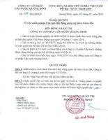 Nghị quyết Hội đồng Quản trị - Công ty cổ phần Cấp nước Quảng Bình