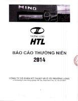 Báo cáo thường niên năm 2014 - Công ty Cổ phần Kỹ thuật và Ô tô Trường Long