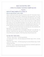 Báo cáo thường niên năm 2012 - Công ty cổ phần Tập đoàn Thiên Quang