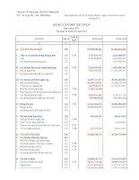 Báo cáo tài chính quý 1 năm 2011 - Công ty Cổ phần Cung ứng và Dịch vụ Kỹ thuật Hàng Hải