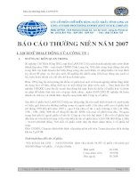 Báo cáo thường niên năm 2007 - Công ty Cổ phần Chế biến Hàng xuất khẩu Long An