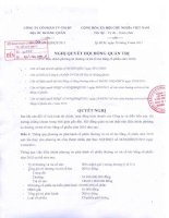 Nghị quyết Hội đồng Quản trị ngày 30-09-2011 - Công ty cổ phần Tư vấn-Thương mại-Dịch vụ Địa ốc Hoàng Quân