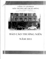 Báo cáo thường niên năm 2011 - Công ty Cổ phần Môi trường Đô thị Hà Đông