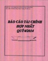 Báo cáo tài chính hợp nhất quý 4 năm 2014 - Công ty Cổ phần Khoáng sản và Vật liệu xây dựng Lâm Đồng