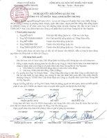 Nghị quyết Hội đồng Quản trị - Công ty Cổ phần Tập đoàn Mai Linh Miền Trung