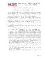Nghị quyết Hội đồng Quản trị ngày 23-7-2010 - Công ty Cổ phần Gạch Ngói Nhị Hiệp