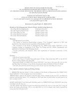Nghị quyết Hội đồng Quản trị ngày 16-05-2011 - Công ty Cổ phần Thực phẩm Quốc tế