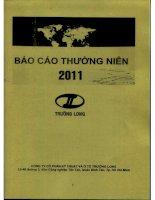 Báo cáo thường niên năm 2011 - Công ty Cổ phần Kỹ thuật và Ô tô Trường Long