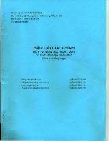 Báo cáo tài chính công ty mẹ quý 4 năm 2010 - Công ty Cổ phần Tập đoàn Hoa Sen