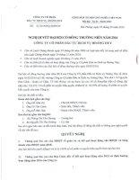 Nghị quyết Đại hội cổ đông thường niên - Công ty Cổ phần Đầu tư Dịch vụ Hoàng Huy