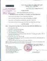 Nghị quyết Hội đồng Quản trị ngày 23-2-2011 - Công ty Cổ phần Tập đoàn Hoa Sen