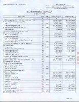 Báo cáo tài chính công ty mẹ quý 1 năm 2011 - Công ty Cổ phần Điện lực Khánh Hòa