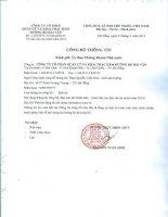 Báo cáo tài chính năm 2014 (đã kiểm toán) - CTCP Quản lý và Khai thác Hầm Đường Bộ Hải Vân