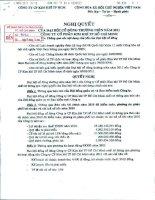 Nghị quyết Đại hội cổ đông thường niên năm 2011 - Công ty Cổ phần Kim khí Thành phố Hồ Chí Minh