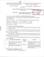 Báo cáo tình hình quản trị công ty - CTCP Bến xe Hà Nội