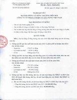 Nghị quyết Đại hội cổ đông thường niên - Công ty Cổ phần Cơ điện và Xây dựng Việt Nam