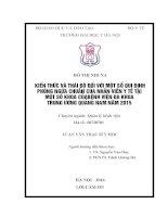 KIẾN THỨC và THÁI độ đối với một số QUI ĐỊNH PHÒNG NGỪA CHUẨN của NHÂN VIÊN y tế tại một số KHOA của BỆNH VIỆN đa KHOA TRUNG ƯƠNG QUẢNG NAM năm 2015